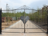 Кованые ворота Косичка